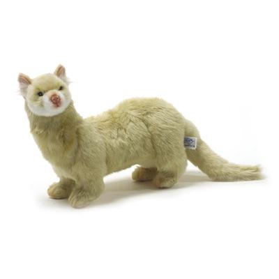 "Hansa Creme Ferret 16"" Plush Toy"