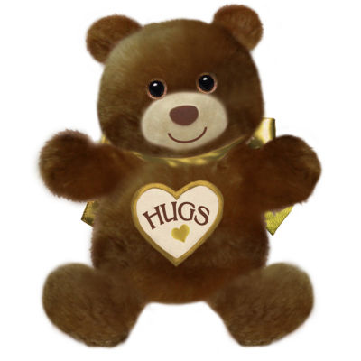 """First and Main - 15"""" Brown Hugsie Bear"""""""