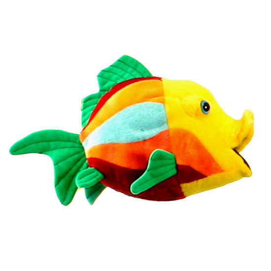 Hansa Plush Fish Number 5: 10.5 Inches