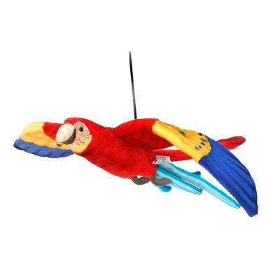 "Hansa Flying Scarlet Macaw 30"" Plush Toy"""