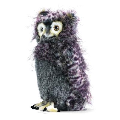 """Hansa Grey Bubo Owl 14"""" Plush Toy"""""""