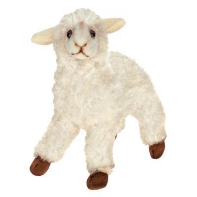 """Hansa 11"""" White Sheep Plush Toy"""""""
