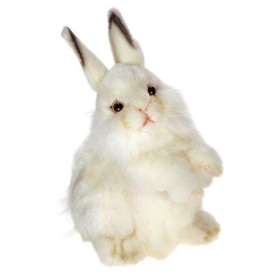 """Hansa 13"""" White Rabbit Plush Toy"""