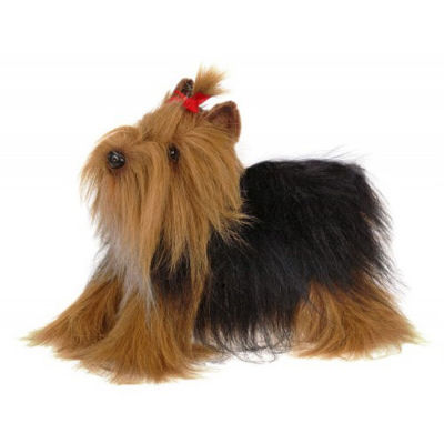 "Hansa 14"" Yorkshire Terrier Plush Toy"