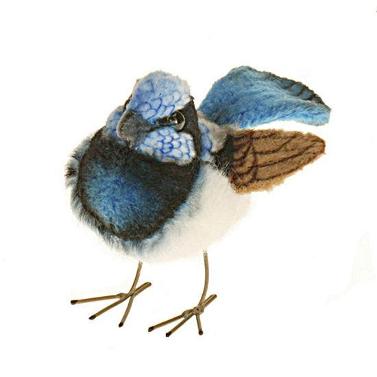 "Hansa 3"" Blue Wren Plush Toy"