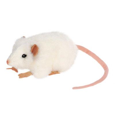 """Hansa 5"""" White Mouse Plush Toy"""