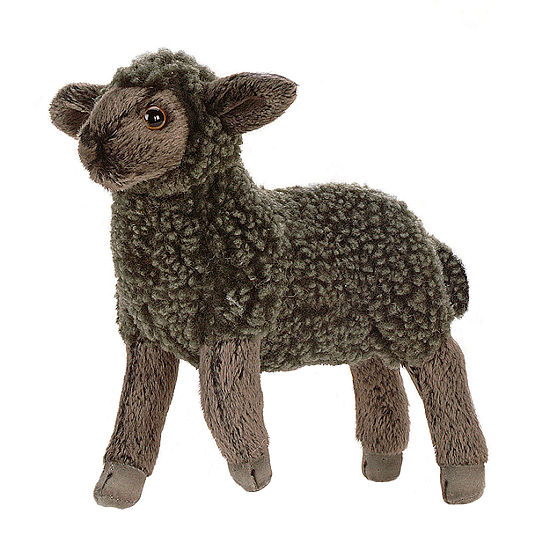 "Hansa 7"" Black Little Lamb Plush Toy"