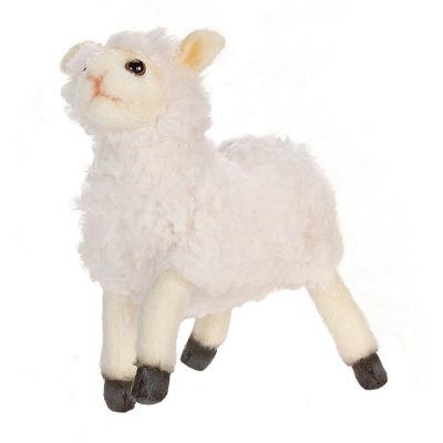 "Hansa 7"" Cream Little Lamb Plush Toy"""