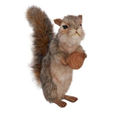 "Hansa 8"" Gray Squirrel Plush Toy"