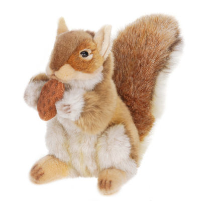 "Hansa 9"" Brown Squirrel with Nut Plush Toy"""