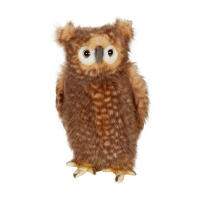 Hansa Adult Brown Owl Plush Toy