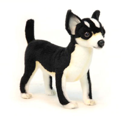 Hansa Black and White Chihuahua Plush Toy