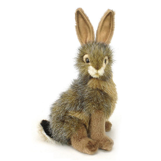 "Hansa Blacktail Jack Rabbit 10"" Plush Toy"