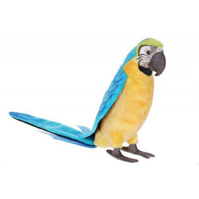 Hansa Blue and Gold Macaw Plush Toy
