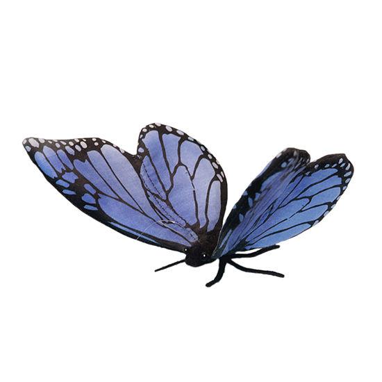 Hansa Blue Butterfly Plush Toy