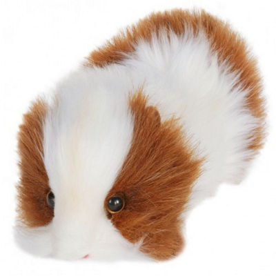 Hansa Brown and White Guinea Pig Plush Toy