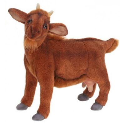 Hansa Brown Goat Plush Toy