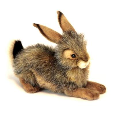 Hansa Crouching Bunny Plush Toy