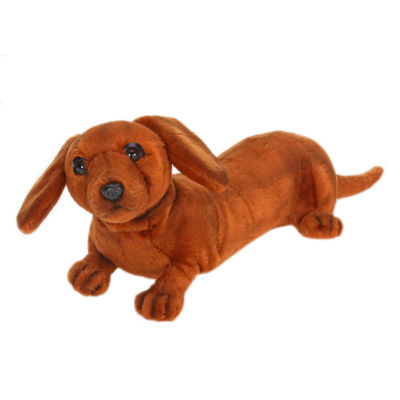 "Hansa Dachshund Puppy 12"" Plush Toy"""