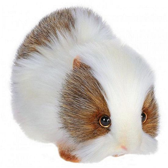 Hansa Gray And White Guinea Pig Plush Toy