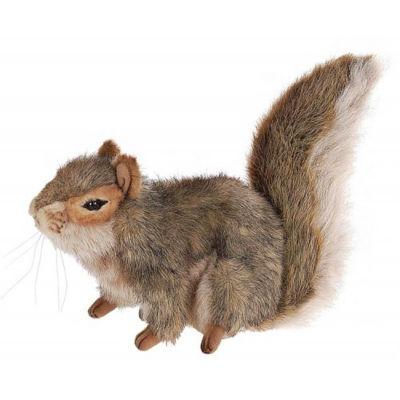 Hansa Gray Sitting Squirrel Plush Toy