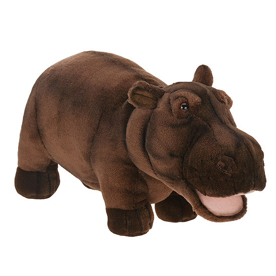 "Hansa Happy Hippo 18"" Plush Toy"""