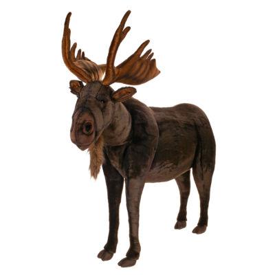"Hansa Life Size Moose 50"" Plush Toy"
