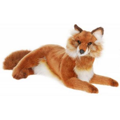 Hansa Lying Red Fox Plush Toy