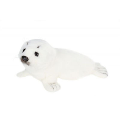 Hansa Lying White Seal Plush Toy