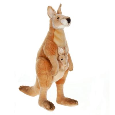 "Hansa Mama and Joey Kangaroo 18"" Plush Toy"