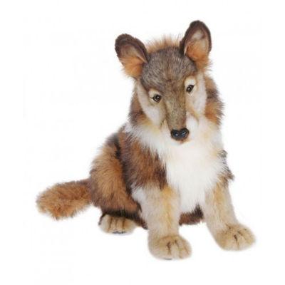 Hansa Seated Wolf Cub Plush Toy