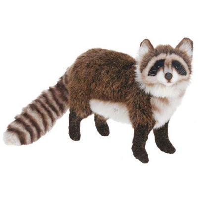 Hansa Standing Racoon Plush Toy
