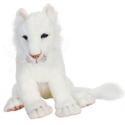 Hansa White Lion Cub Plush Toy