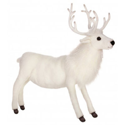 Hansa White Reindeer Plush Toy