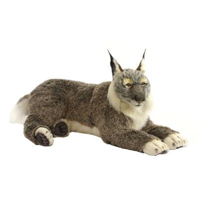 "Hansa Laying Lynx 27.5"" Plush Toy"