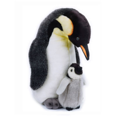 Lelly National Geographic Plush Penguin with Baby