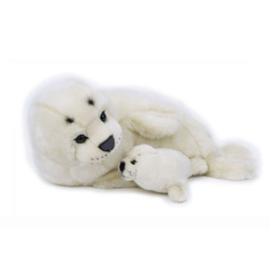 Lelly National Geographic Plush Seal with Baby