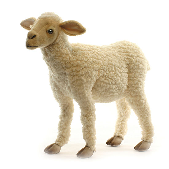 Hansa Plush Life Size Baby Lamb: 20 Inches