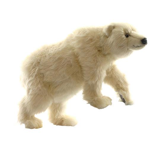 Hansa Plush Polar Cub On All Fours: 19 Inches