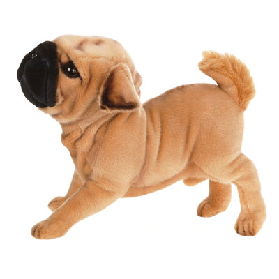 "Hansa Pug Dog 15"" Plush Toy"