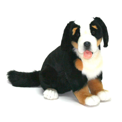 "Hansa Pup Bernese Dog 14"" Plush Toy"""