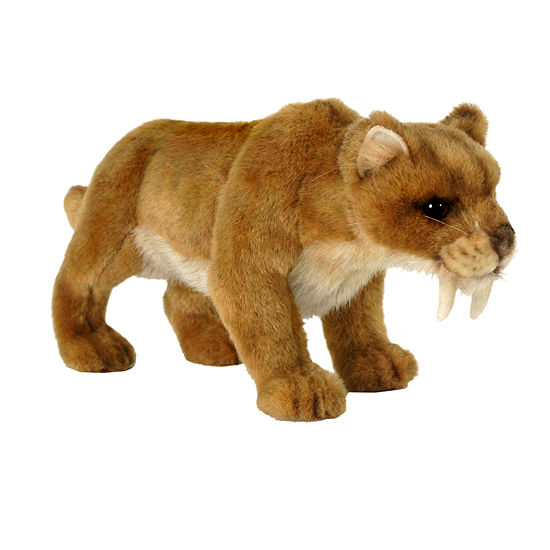 Hansa Plush Saber Tooth Tiger: 12 Inches