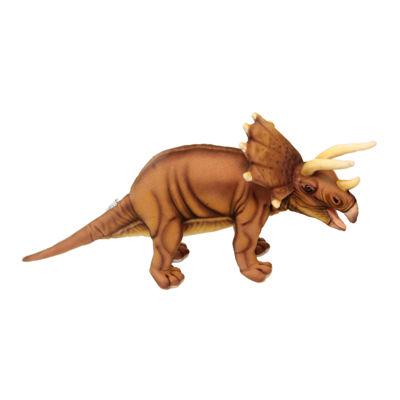 "Hansa Triceratops Dinosaur 17"" Plush Toy"""