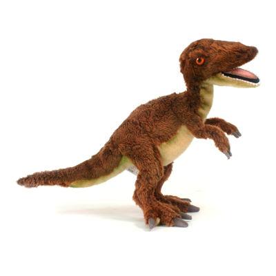 "Hansa Velociraptor Dinosaur 19"" Plush Toy"""