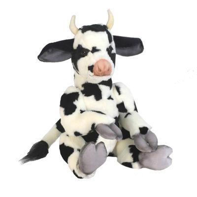 "Hansa Whimsey Series Cow 13"" Plush Toy"""