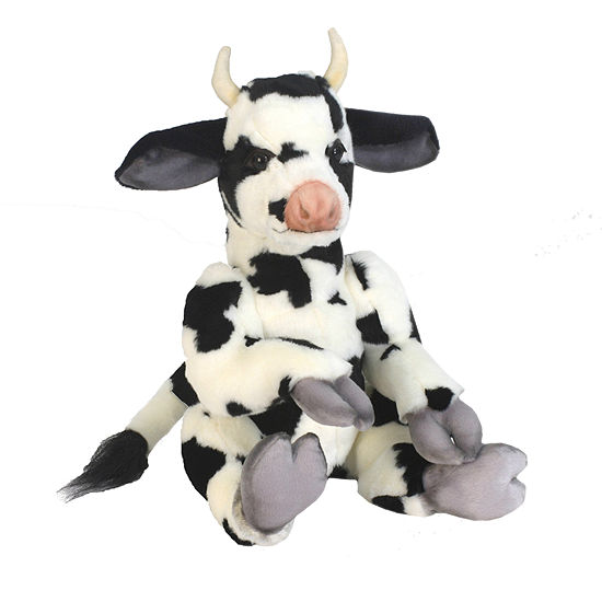 Hansa Plush Whimsey Series Cow: 13 Inches