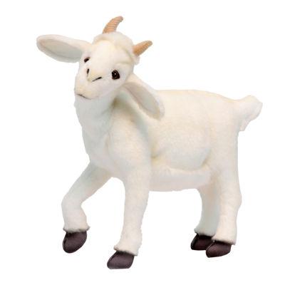 "Hansa White Baby Goat 14.5"" Plush Toy"
