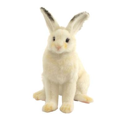 """Hansa White Bunny 6"""" Plush Toy"""""""