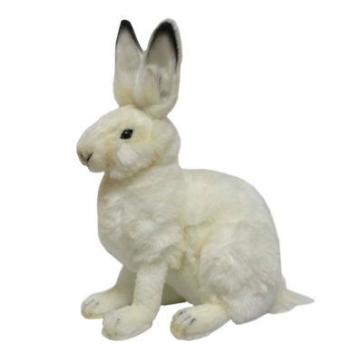 "Hansa White Hare 11"" Plush Toy"""