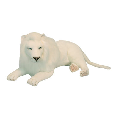 """Hansa White Lion 39"""" Plush Toy"""""""